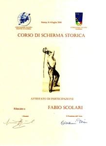 Corso Scherma Storica 2006