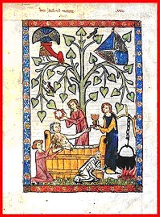 L igiene nel medioevo accademia fabio scolari - Bagno in miniatura ...