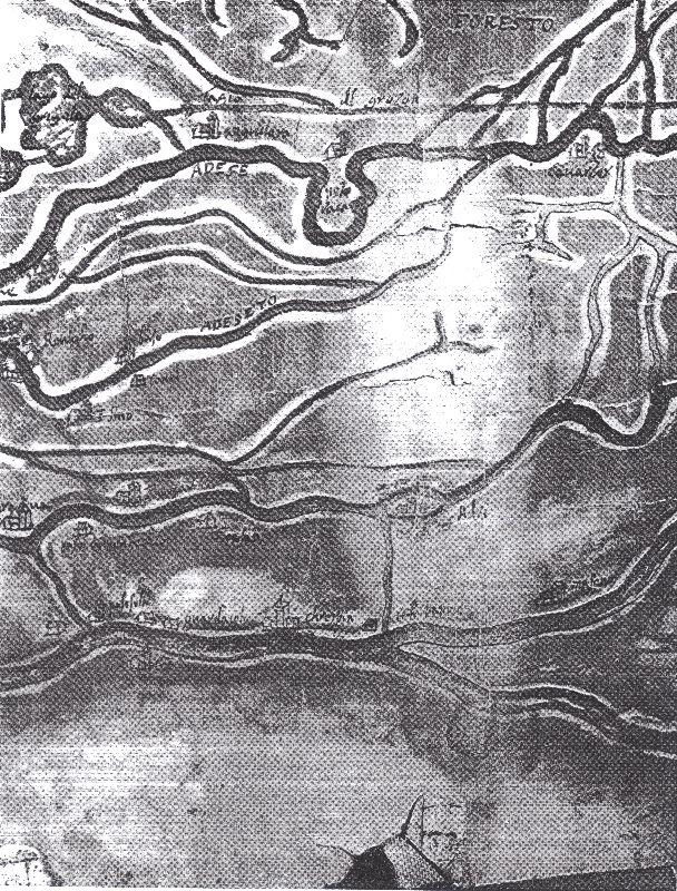 corso inferiore dell'Adige nel disegno del Moretto