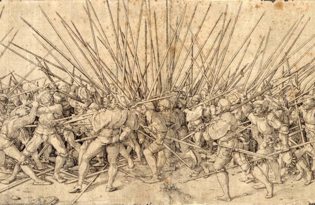 Mercenari svizzeri Bad war di Hans Holbein il Giovane
