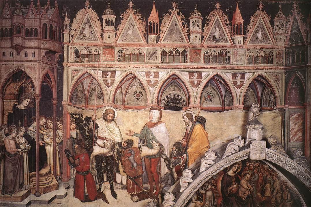 Altichiero la vergine adorata dai membri della famiglia Cavalli sant'anastasia verona 1370