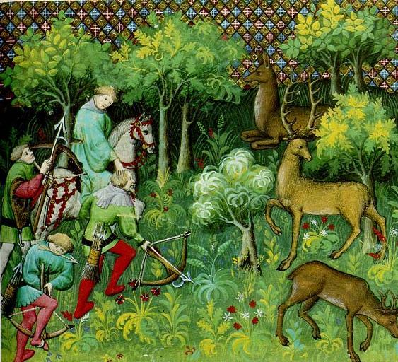 Medieval_forest, dal 'Livre de chasse' (1387)